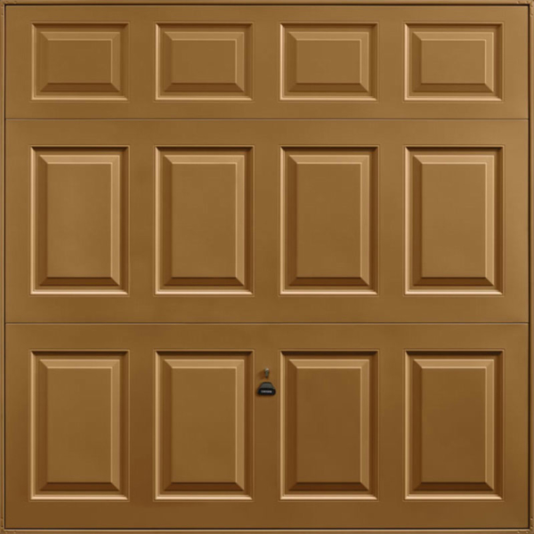 Beaumont Golden Oak Solid Garage Door