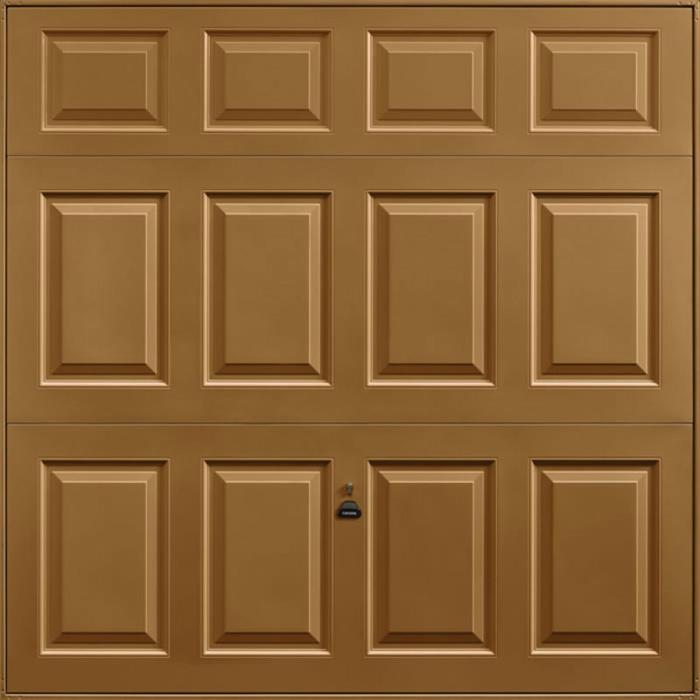 Beaumont Golden Oak Solid Garage Door