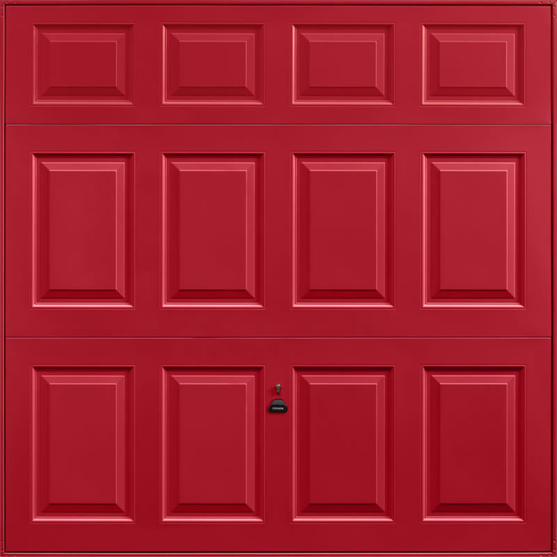 Beaumont Ruby Red Garage Door