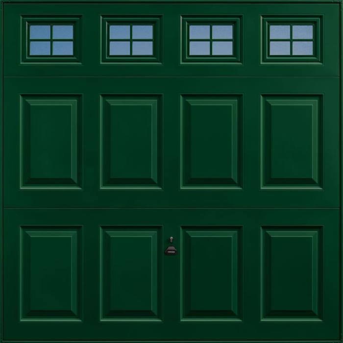 Beaumont Windows Fir Green Garage Door