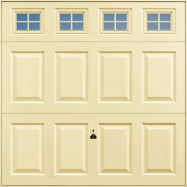 Beaumont Windows Light Ivory Garage Door