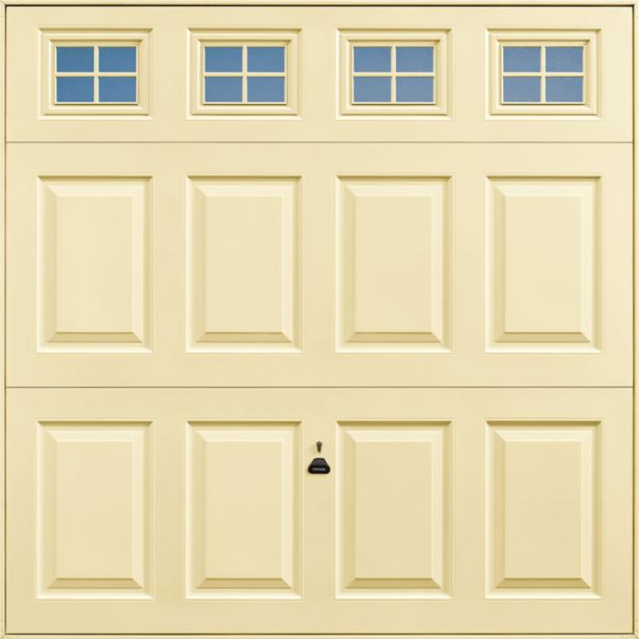 Beaumont Windows Light Ivory Garage Door