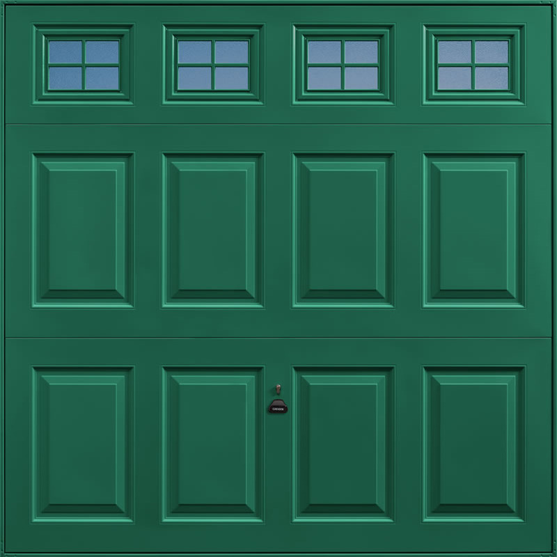 Beaumont Windows Moss Green Garage Door