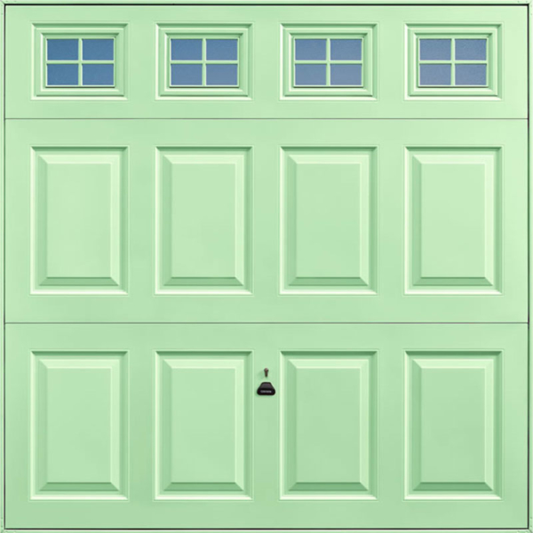 Beaumont Windows Pastel Green Garage Door