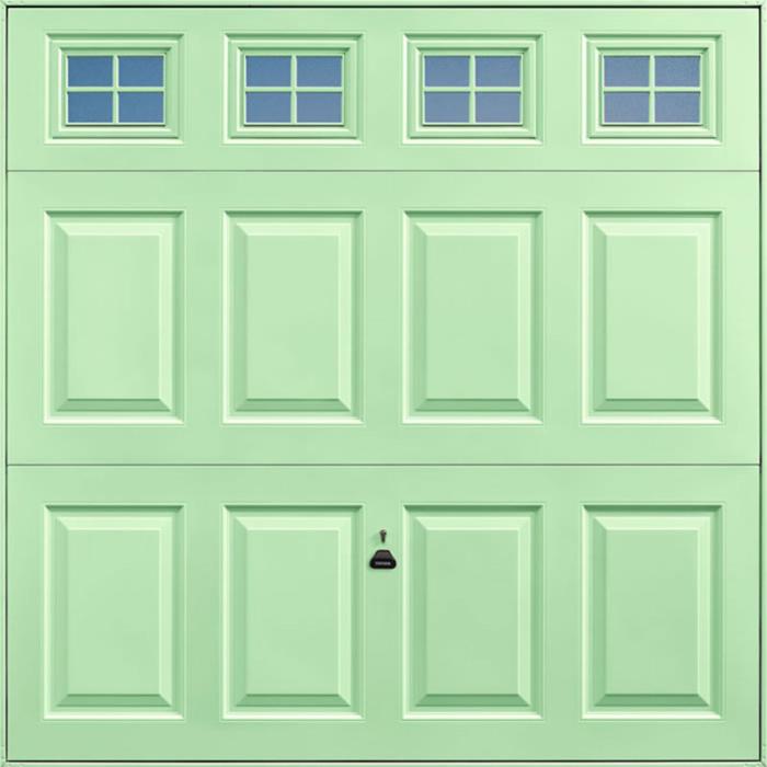 Beaumont Windows Pastel Green Garage Door