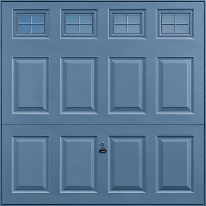 Beaumont Windows Pigeon Blue Garage Door