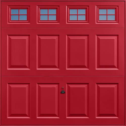 Beaumont Windows Ruby Red Garage Door
