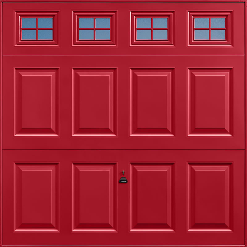 Beaumont Windows Ruby Red Garage Door