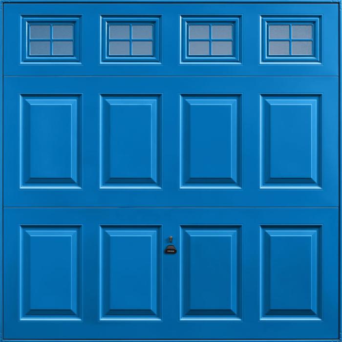 Beaumont Windows Single Blue Garage Door