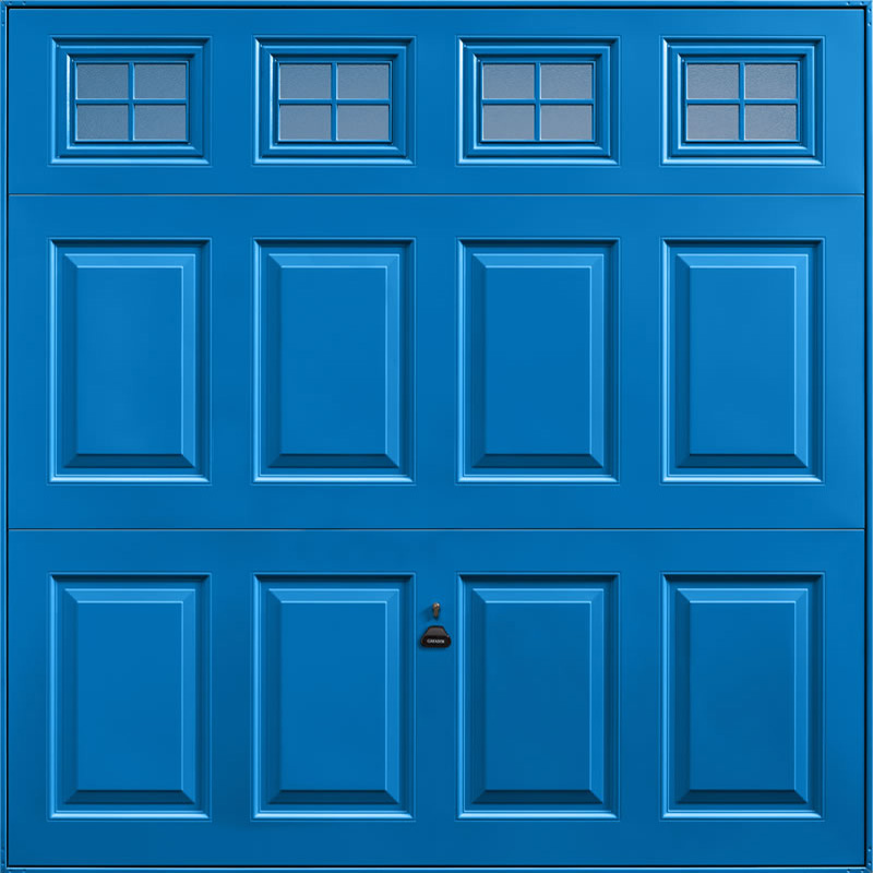 Beaumont Windows Single Blue Garage Door