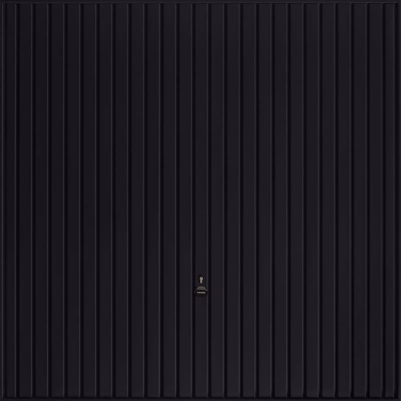 Carlton Jet Black Garage Door
