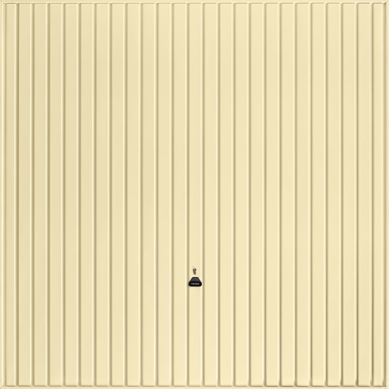 Carlton Light Ivory Garage Door