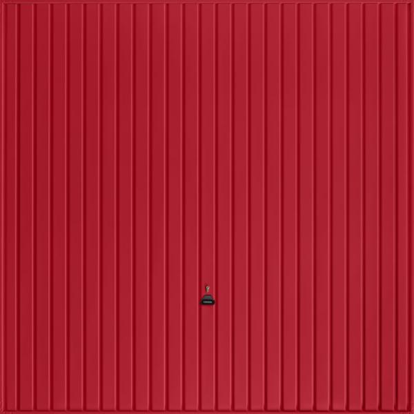 Carlton Ruby Red Garage Door