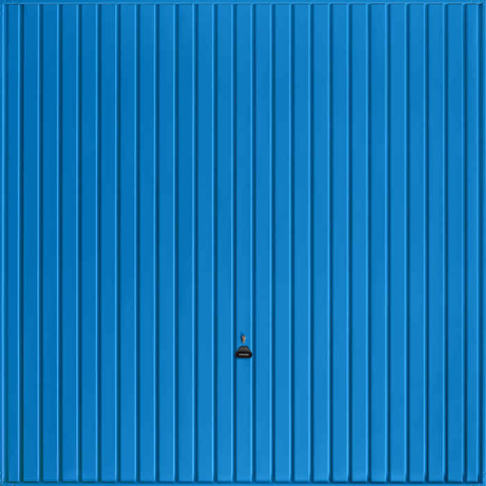 Carlton Signal Blue Garage Door