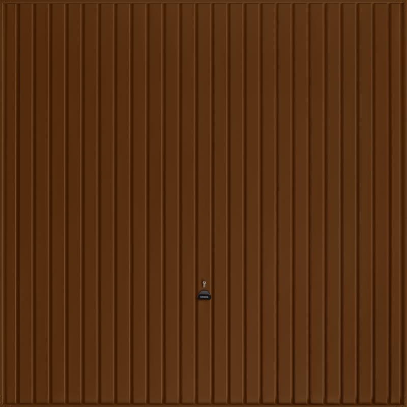 Carlton Terra Brown Garage Door