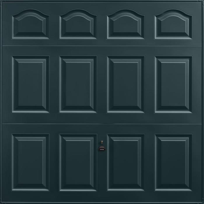Cathedral Anthracite Grey Garage Door