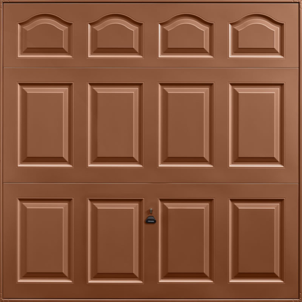Cathedral Clay Brown Garage Door