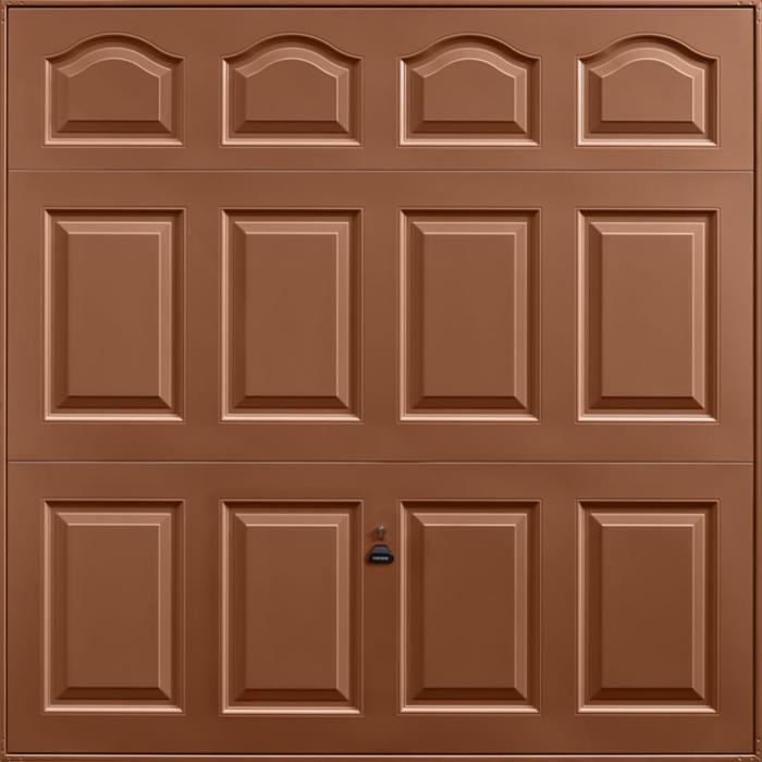 Cathedral Clay Brown Garage Door