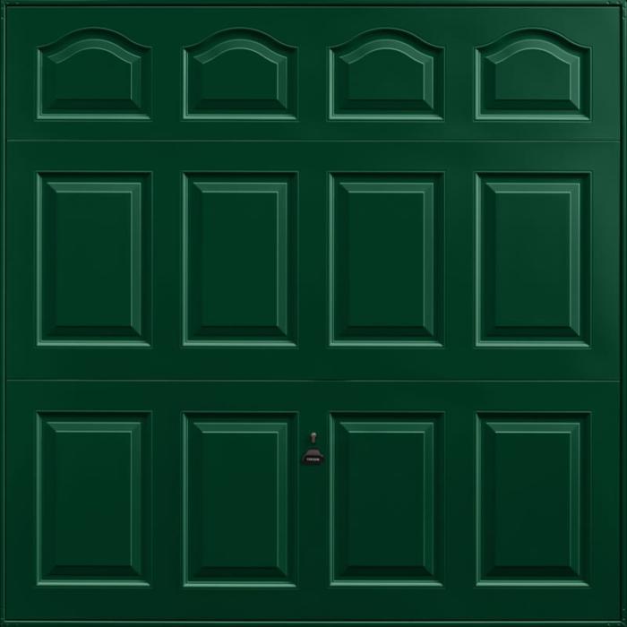 Cathedral Fir Green Garage Door