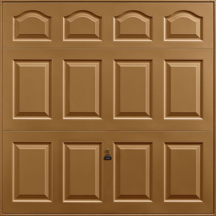 Cathedral Golden Oak Garage Door