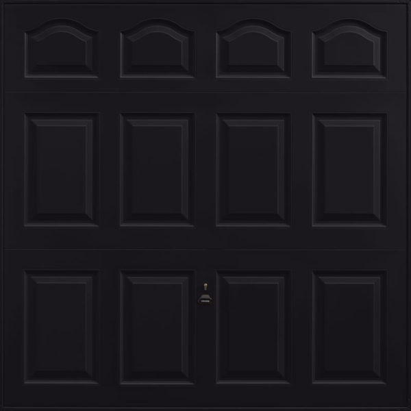 Cathedral Jet Black Garage Door