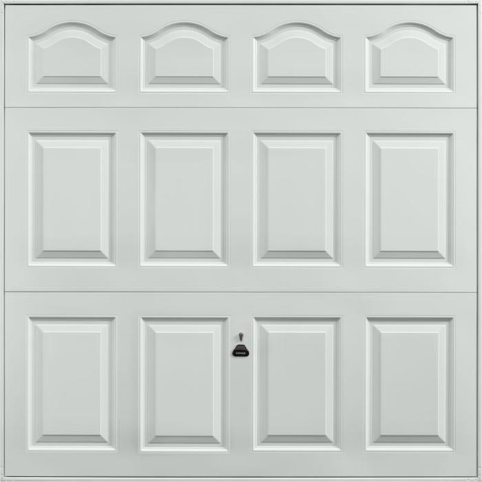 Cathedral Light Grey Garage Door