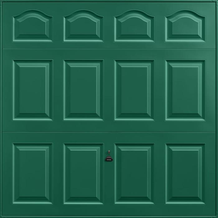 Cathedral Moss Green Garage Door