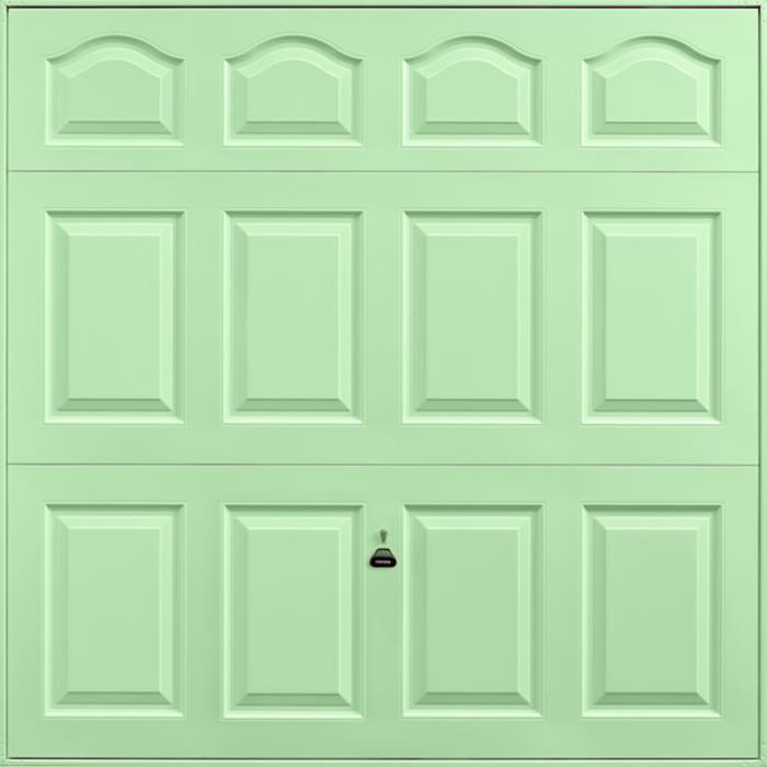 Cathedral Pastel Green Garage Door