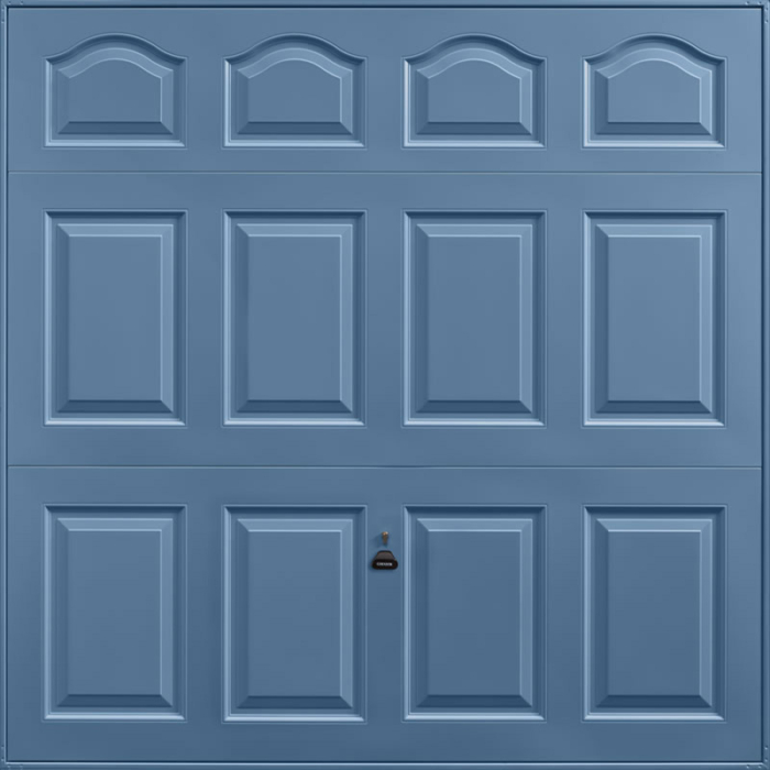 Cathedral Pigeon Blue Garage Door