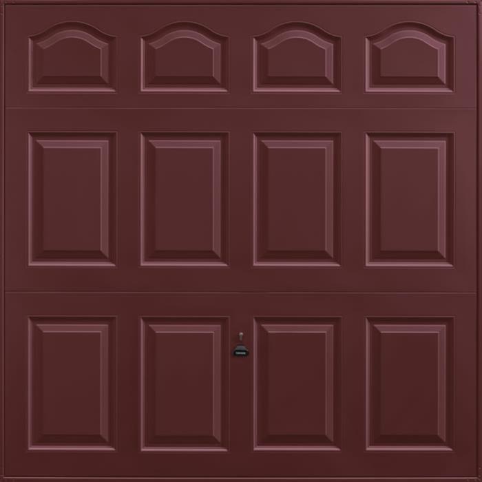 Cathedral Rosewood Garage Door