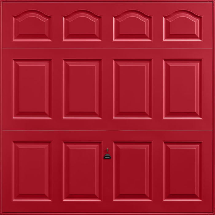 Cathedral Ruby Red Garage Door
