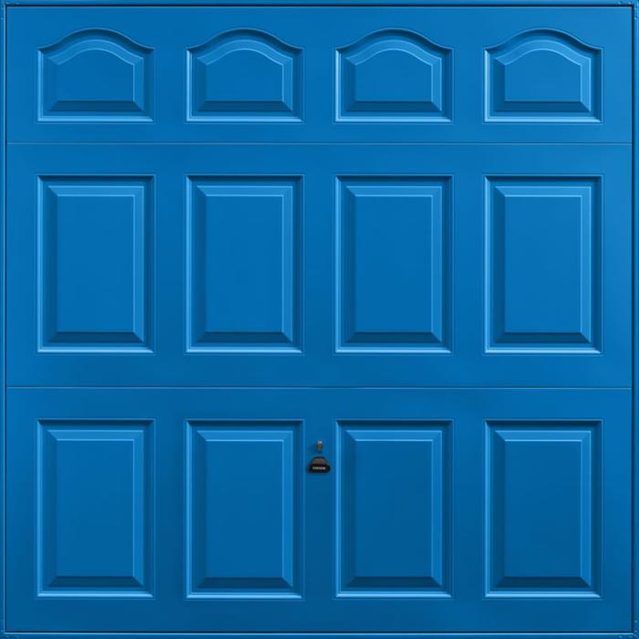 Cathedral Signal Blue Garage Door