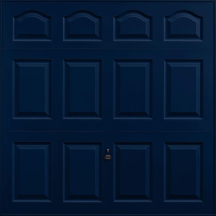 Cathedral Steel Blue Garage Door
