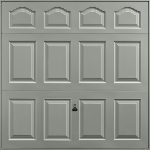 Cathedral Stone Grey Garage Door