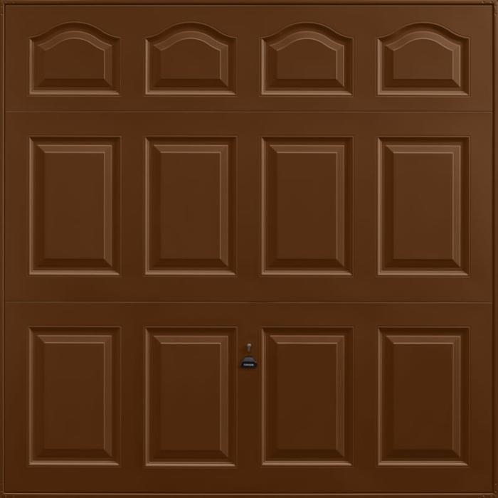 Cathedral Terra Brown Garage Door
