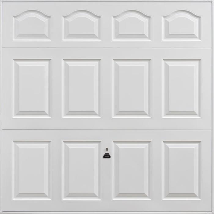 Cathedral White Garage Door