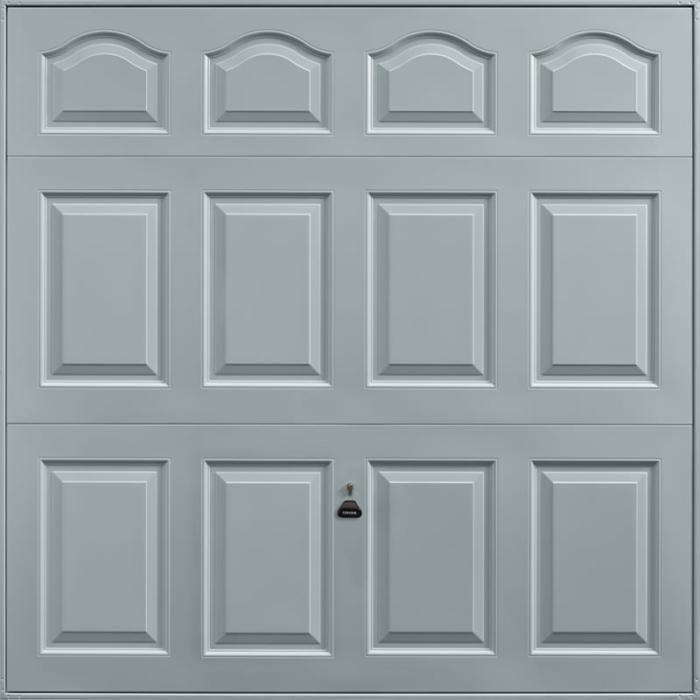 Cathedral Window Grey Garage Door