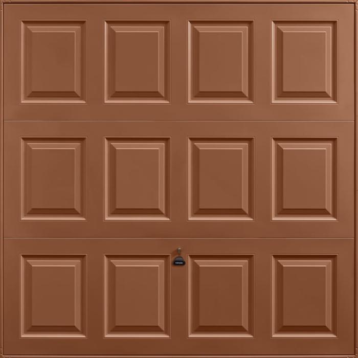 Georgian Clay Brown Garage Door