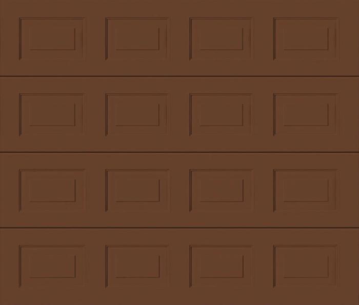 Georgian Clay Brown Sectional Garage Door
