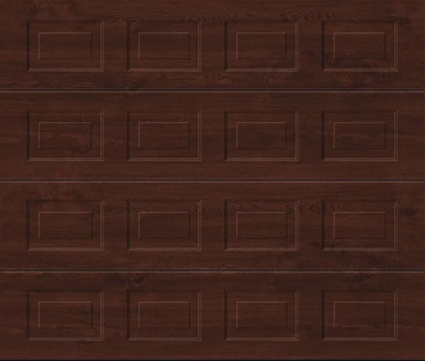 Georgian Dark Oak Sectional Garage Door