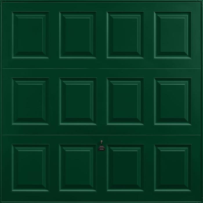 Georgian Fir Green Garage Door
