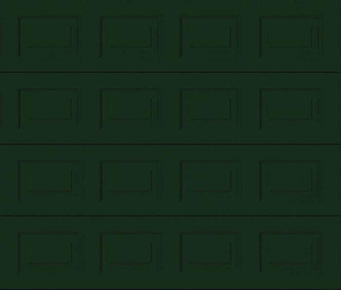 Georgian Fir Green Sectional Garage Door