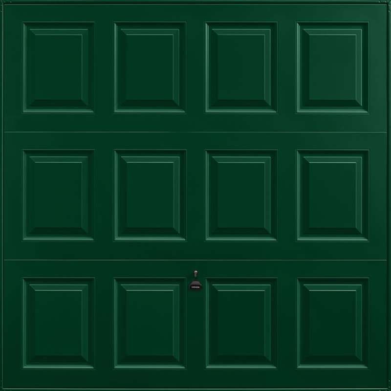 Georgian Fir Green Garage Door