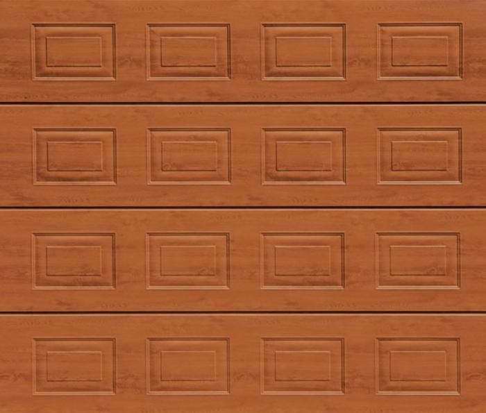 Georgian Golden Oak Sectional Garage Door