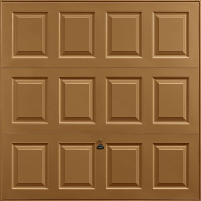 Georgian Golden Oak Garage Door
