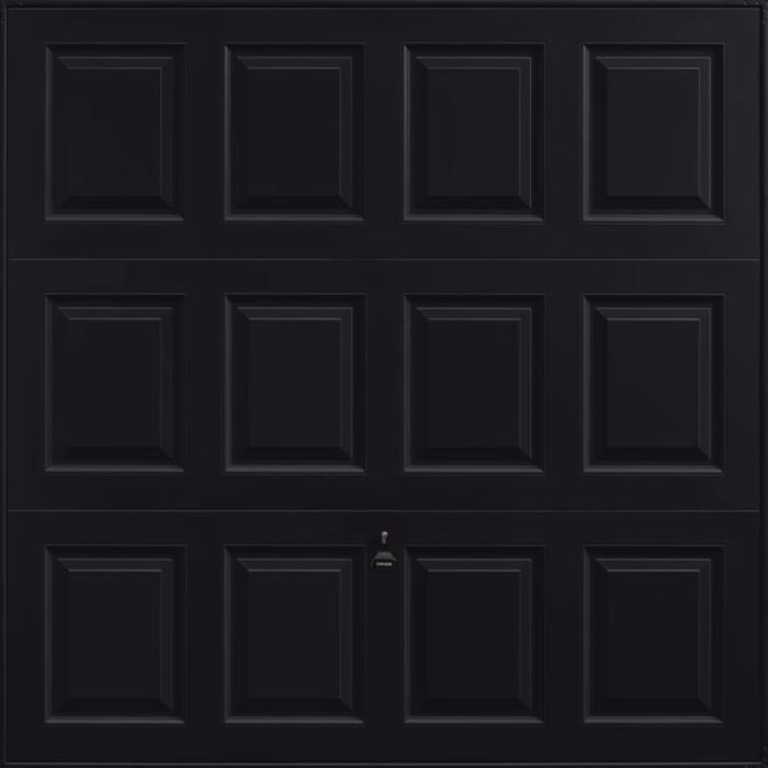 Georgian Jet Black Garage Door