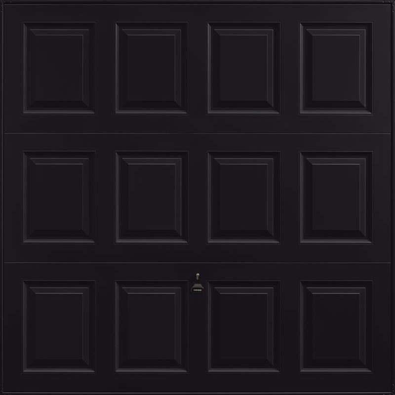 Georgian Jet Black Garage Door