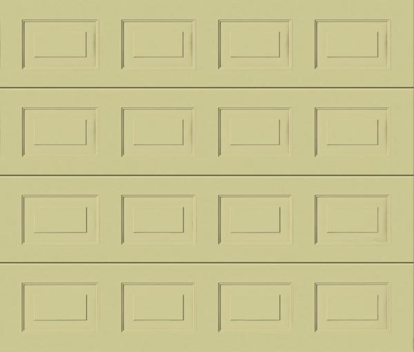 Georgian Light Ivory Sectional Garage Door