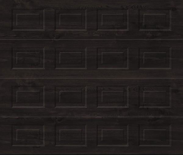Georgian Night Oak Sectional Garage Door
