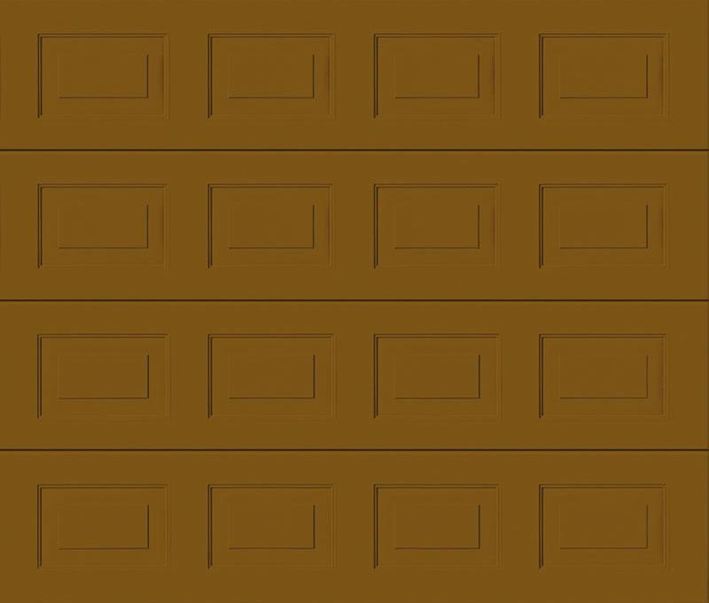 Georgian Ochre Brown Sectional Garage Door
